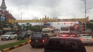 Trung tâm thành phố Siêm Reap, Campuchia ngày 11.08.2018