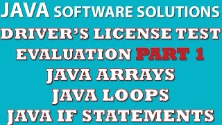 Java Programming Challenge Part 1: Driver's License Test Evaluation (Java arrays, loops)