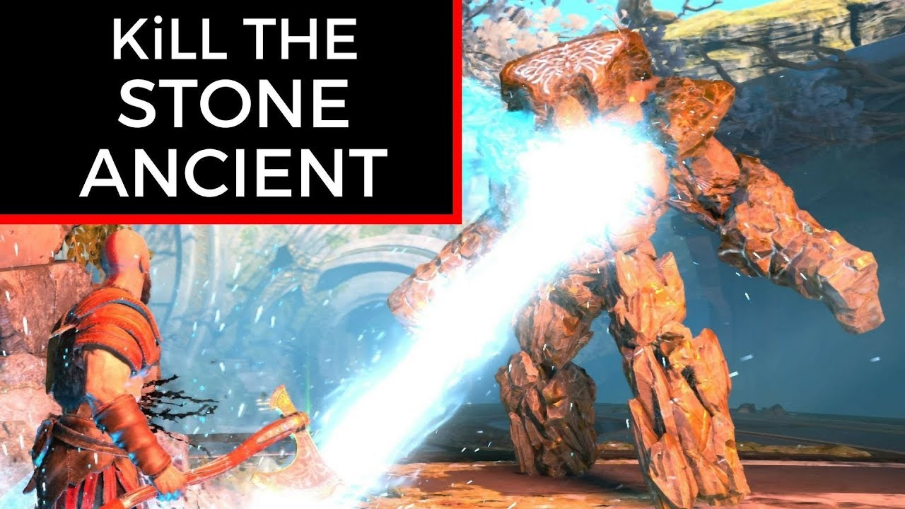 Of War How To Kill The Stone Ancient Fast Easy Way Gameplay Walkthrough Game Guide Ps4 Pro