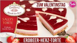 Erdbeer Herz Torte zum Valentinstag / Coppenrath und Wiese / Nachgemacht - Original trifft Sally
