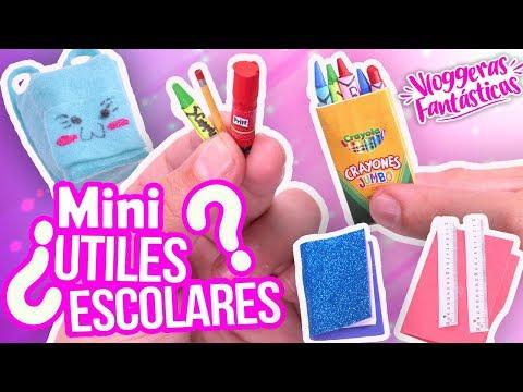 Mini UTILES ESCOLARES que SI FUNCIONAN! Manualidades Fáciles en VACACIONES! - Vloggeras Fantásticas
