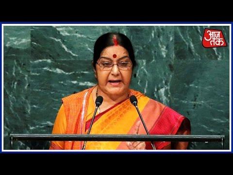Sushma Swaraj Decimates Pakistan At UN And Warns Them To Abandon The Dream