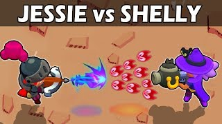 JESSIE vs SHELLY | 1vs1 | 27 Test | Brawl Stars