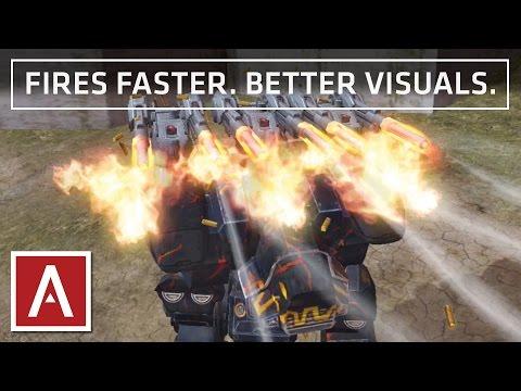 War Robots Test Server [2.9] - IMPROVED Heavy Machine Gun Prototype w/ gameplay