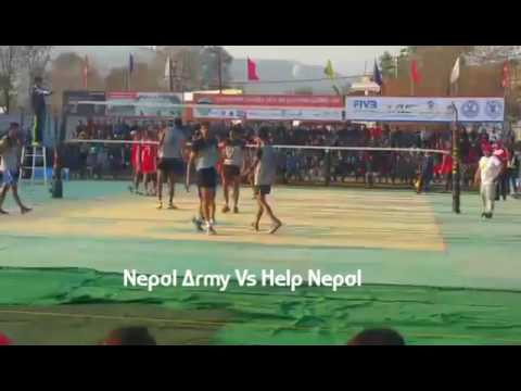 Army Vs Help Nepal Men Volleyball Competition 2017 PKH