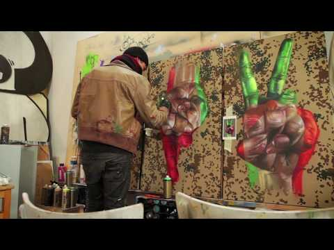 Montana Gold Cans - Studio Visit with Case Ma'Claim - Hands