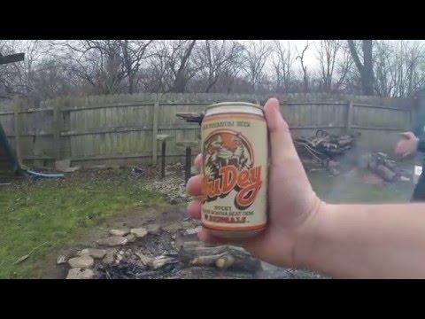 2015 Cincinnati Bengals Post Season drinking a 1988 HuDey beer