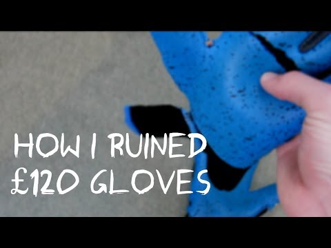 How I Ripped My £120 Goalkeeper Gloves - Uhlsport Super Grip Ruined