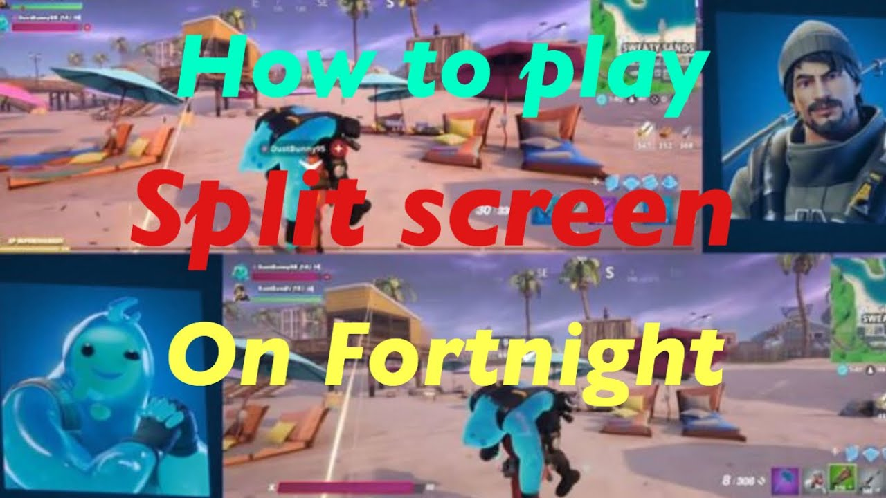 How To Play Split Screen On Fortnite - YouTube