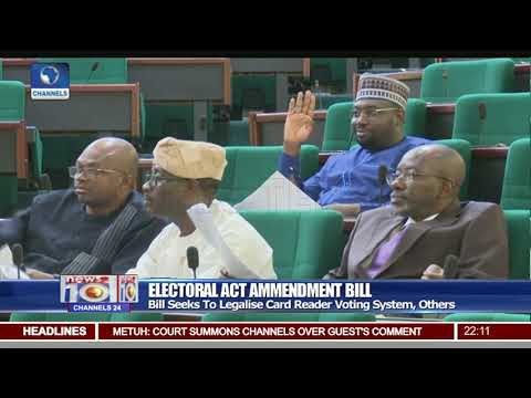 Reps Divided Over Electoral Act Bill Query Similarity To Former Document