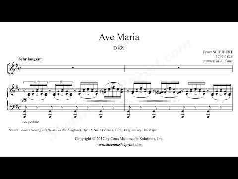 Schubert : Ave Maria - G Major