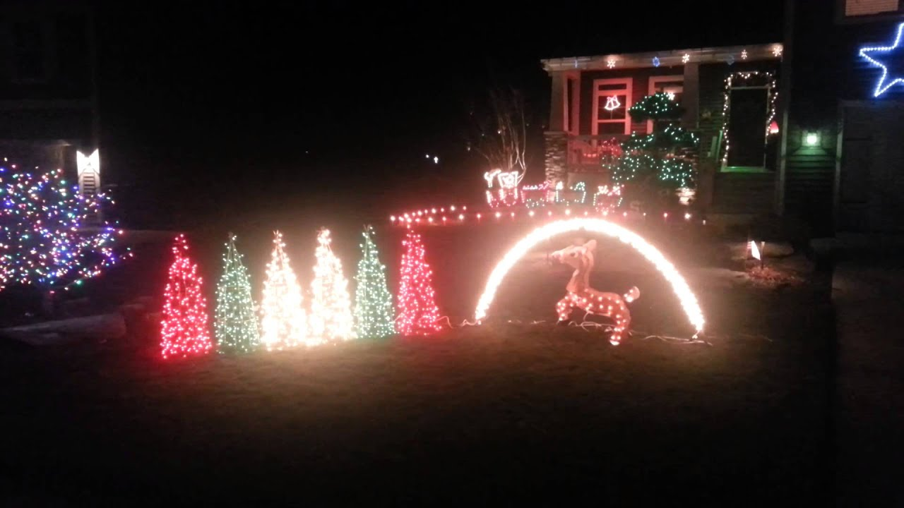 2012 Gemmy Christmas light display. - YouTube