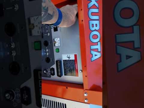 Custom built off the grid generator Kubota GL7000