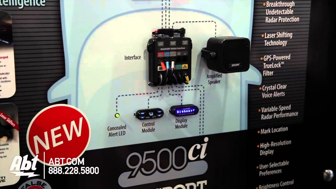 Passport Radar Detector >> Escort Passport 9500CI Laser Shifter Pro - CES 2014 - YouTube