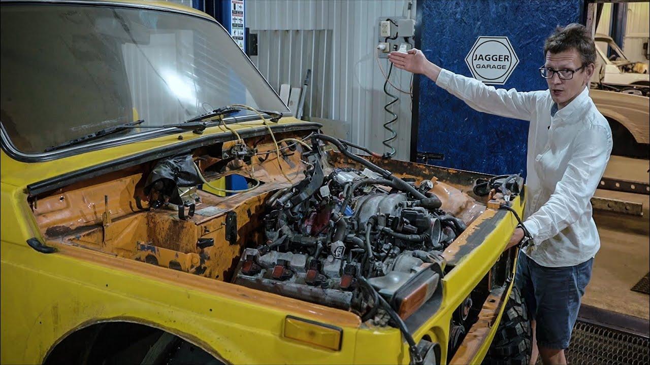 Впихнули в Ниву мотор V8, теперь повалит.