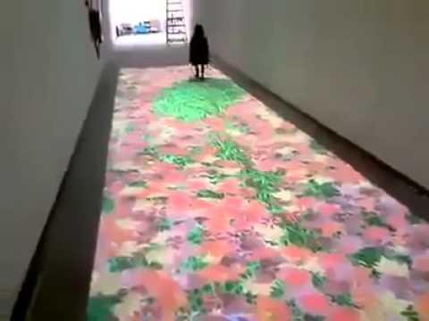 Digital Carpet Reacts to People Walking!