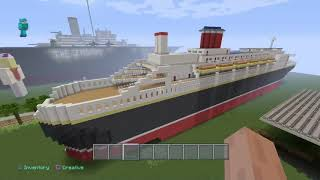 show case of the titanic in mincraft an more