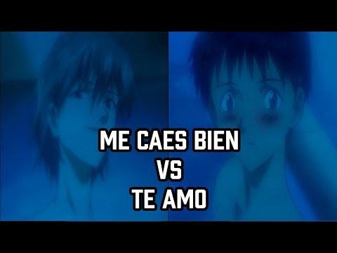 Evangelion Me caes bien VS Te amo / Comparación de escenas