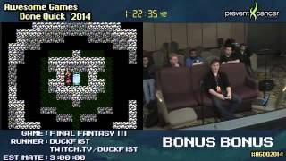 AGDQ 2014 Bonus Stream - Final Fantasy III