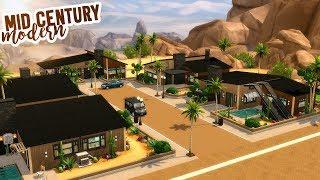 MID-CENTURY MODERN STREET | The Sims 4 Speed Build