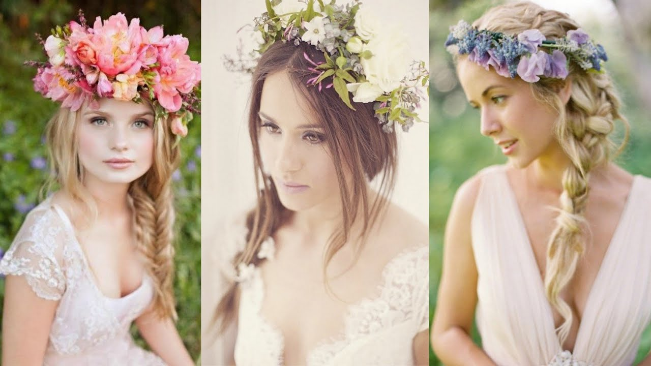 Wedding Hairstyles With Braids: Braided Wedding Hairstyles With Flowers
