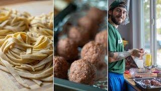 Making Beyond Burger Meatballs & Homemade Pasta