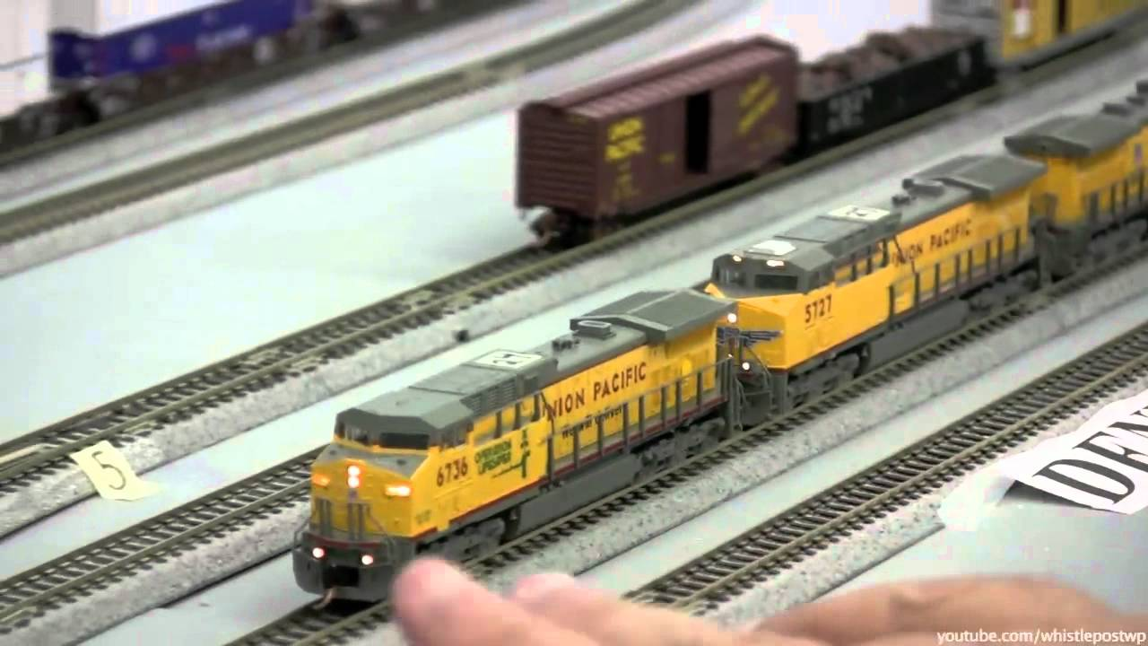 Union pacific n scale garage layout youtube for N scale bedroom layout