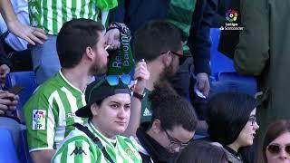Calentamiento RCD Espanyol de Barcelona vs Real Betis
