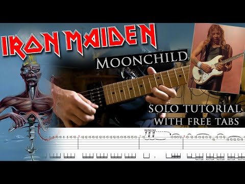 Iron Maiden - Moonchild Dave Murray's solo lesson (with tablatures and backing tracks) mp3