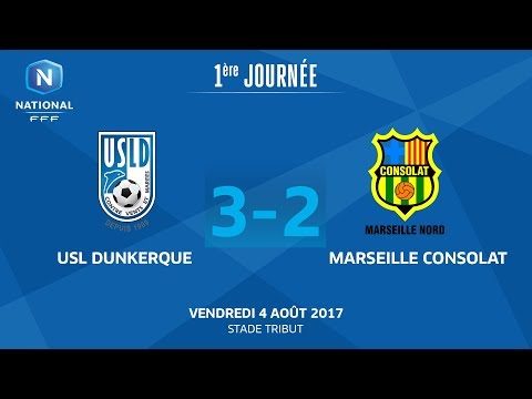 J1 : USL Dunkerque - GS Marseille Consolat (3-2), le replay