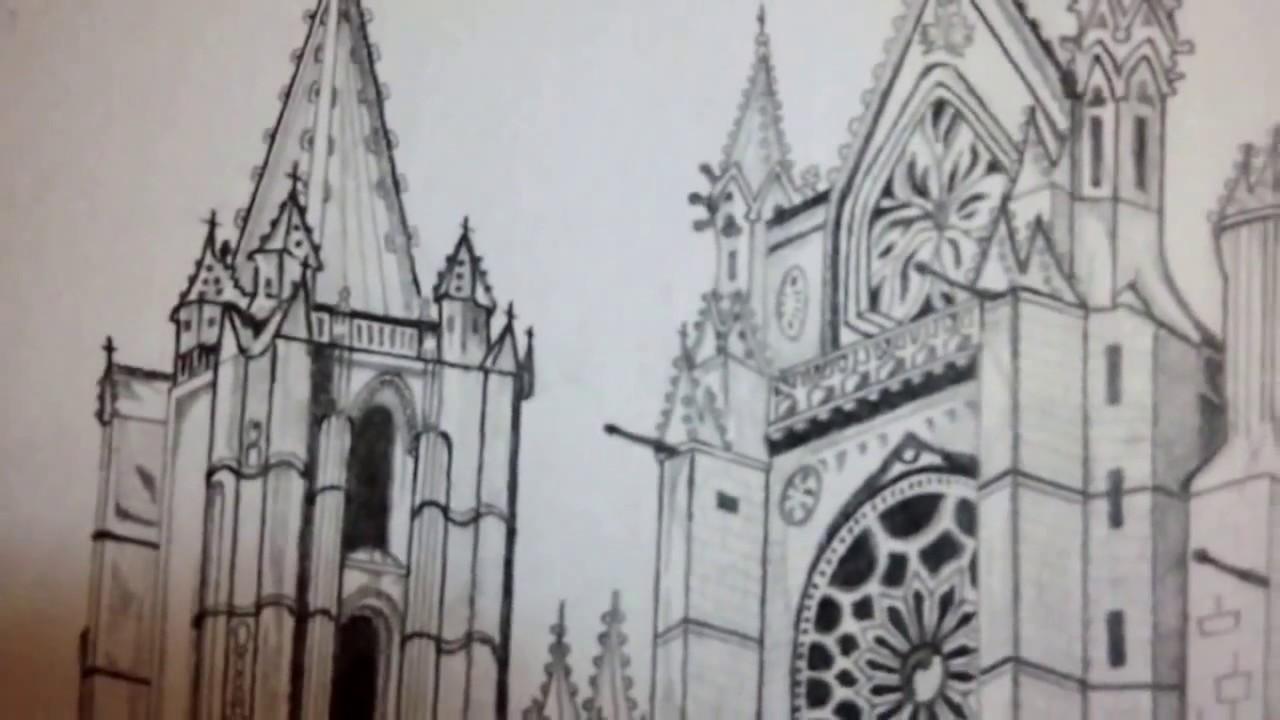 Catedral Dibujo - YouTube