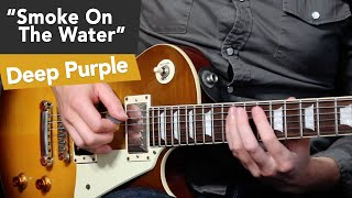 Smoke On The Water Guitar Tutorial - Easy Riffs Lesson #7