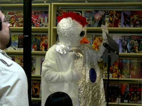 Comic shop karaoke: Robot Chicken does Bohemian Rhapsody at Docking Bay 94