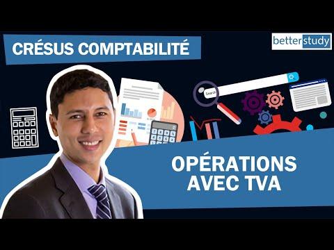 Logiciel comptable Crésus Comptabilité - opérations avec TVA