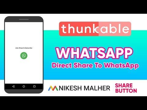 Direct Share To WhatsApp Text Message Shayari Jokes (Thunkable Tutorial) Direct Share Button
