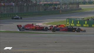 Verstappen Runs Into Vettel   2018 Chinese Grand Prix