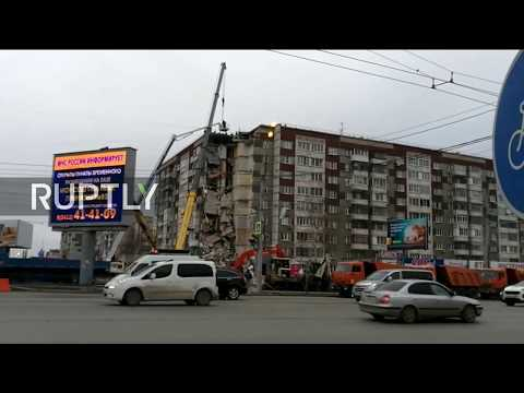 Live from Izhevsk during aftermath of deadly building collapse