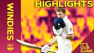 Joe Root Hits 16th Test Match Hundred | Windies vs England 3rd Test Day 3 2019 - Highlights