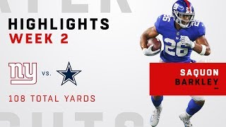 Saquon Barkley's 25 Touches for 108 Total Yards!