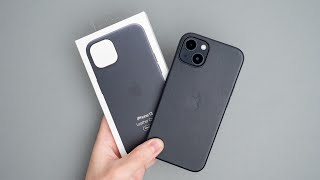 iPhone 13 Midnight Leather Cas…