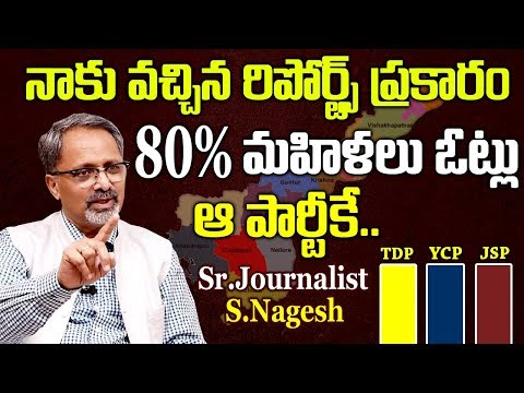 Sr.Journalist S.Nagesh About Women Percentage Of Voting In AP Elections 2019  #APElectionResults2019