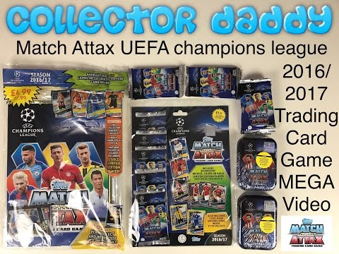 Match Attax UEFA champions league 2016/17 trading card game Mega Video