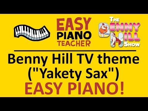How to play Yakety Sax (Bennie Hill TV theme): EASY keyboard song! (Piano tutorial with note names)