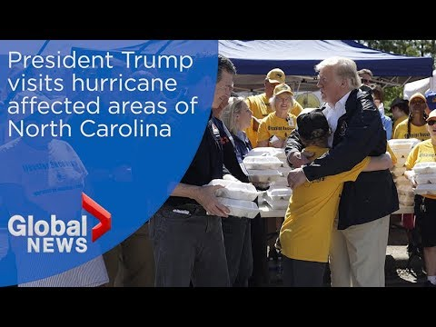 President Trump visits hurricane affected areas of North Carolina after Florence