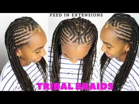 TRIBAL KIDS BRAIDED HAIRSTYLES TUTORIAL
