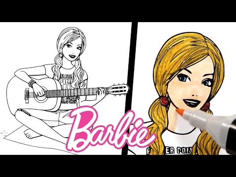 Barbie The Princess and The Popstar Coloring Pages