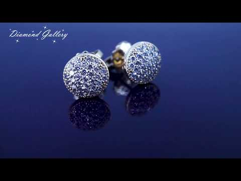 Серьги гвоздики с бриллиантами в желтом золоте
