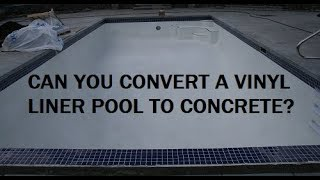 Can a liner pool be converted to gunite?
