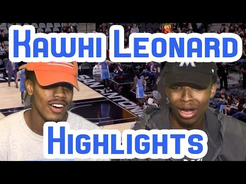 IS HE UNDERRATED?! KAWHI LEONARD 2016-2017 NBA SEASON HIGHLIGHTS REACTION!