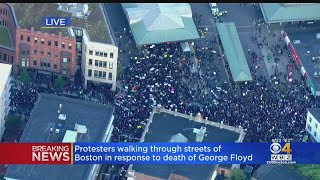 Thousands Gather For Protest In Boston Sunday Evening